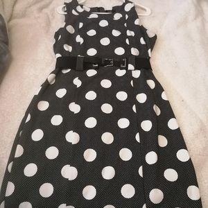 Polkadot sheath dress